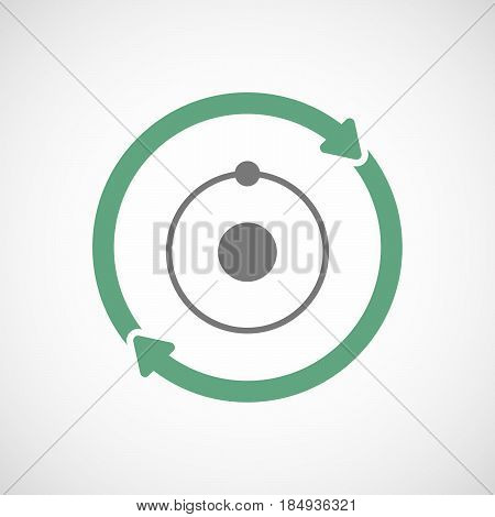 Isolated Reuse Icon With An Atom