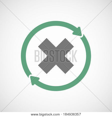 Isolated Reuse Icon With An X Sign