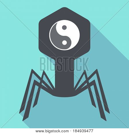 Long Shadow Virus With A Ying Yang