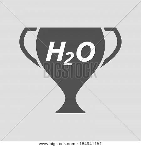 Isolated Cup With    The Text H2O