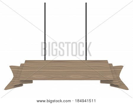 3d illustration of hanging sign. white background isolated. icon for game web.