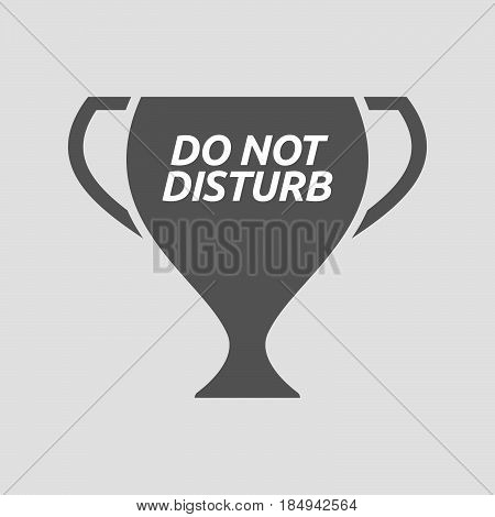 Isolated Cup With    The Text Do Not Disturb