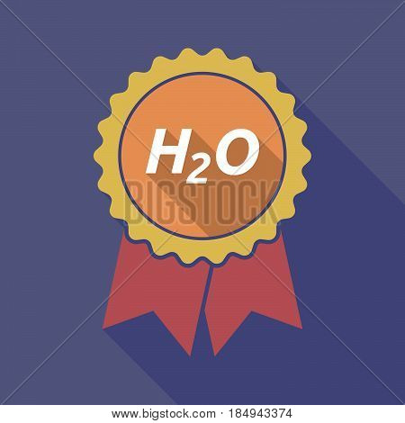 Long Shadow Badge With    The Text H2O