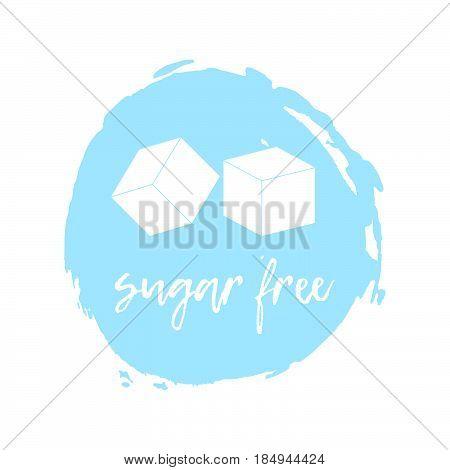 Sugar Free Label. Food Intolerance Symbols. Vector Illustration