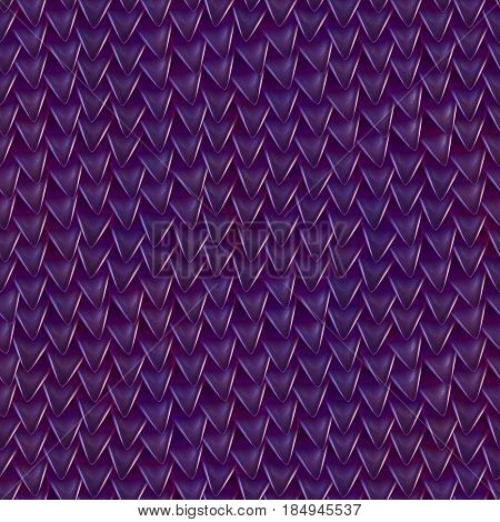 Seamless texture of metallic dragon scales. Reptile skin pattern. Fish scales texture. Shingles roof texture. Background of small triangular reflecting plates