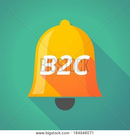 Illustration of a long shadow bell with the text B2C poster