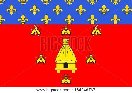 Flag of Brioude is a commune in the Haute-Loire department in the Auvergne region in south-central France. Vector illustration