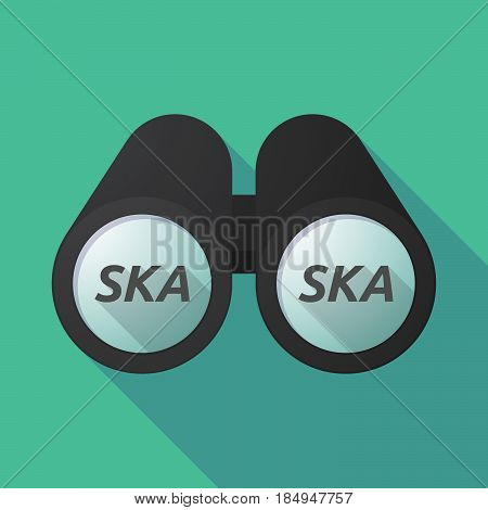 Long Shadow Binoculars With    The Text Ska