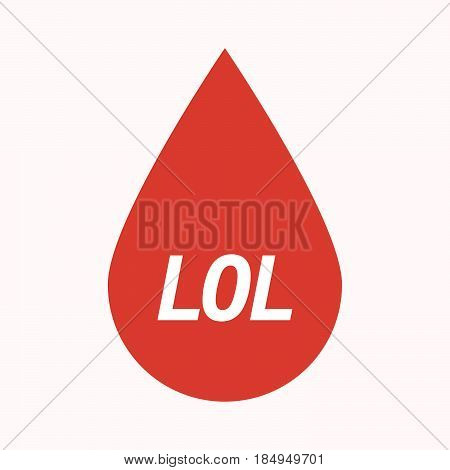Isolated Blood Drop With    The Text Lol