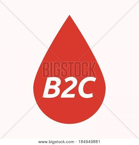 Isolated Blood Drop With    The Text B2C