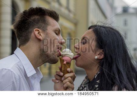 eat some ice cream at