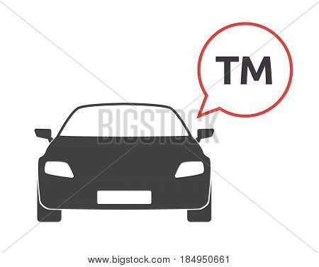 Isolated Car With    The Text Tm