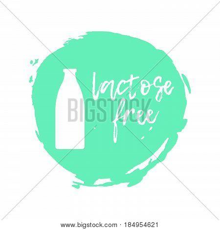 Lactose Free Label. Food Intolerance Symbols. Vector Illustration