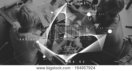 Abstract art geometry graphic design