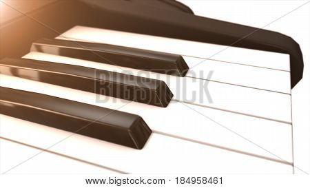 Piano Keyboard In Black And White