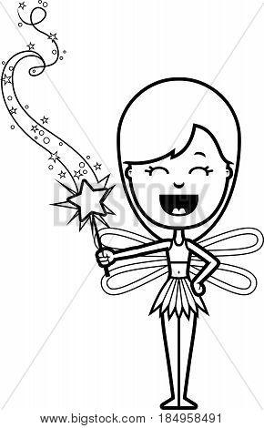 Cartoon Teen Fairy Magic Wand