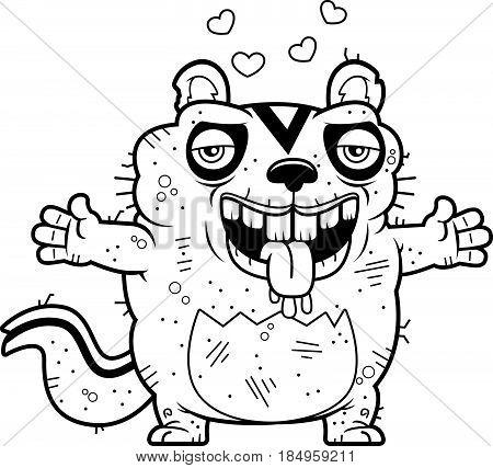 Cartoon Ugly Chipmunk Hug