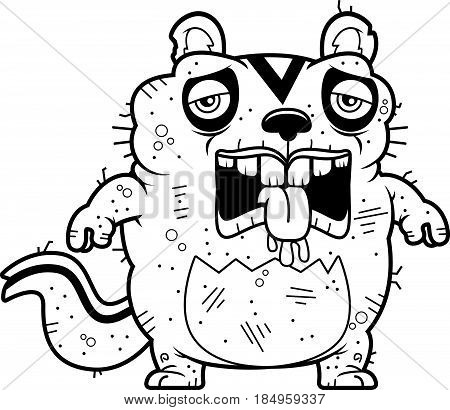 Cartoon Tired Ugly Chipmunk