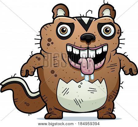 Cartoon Ugly Chipmunk Standing
