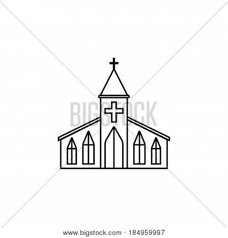 Church line icon, religion building elements, Religious sign, a linear pattern on a white background, eps 10.
