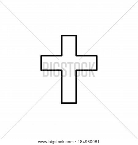 Religion cross line icon, religion christianity, Religious sign, a linear pattern on a white background, eps 10.