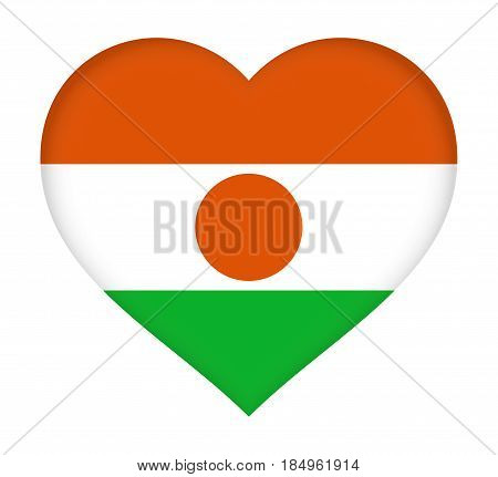 Flag Of  Niger Heart