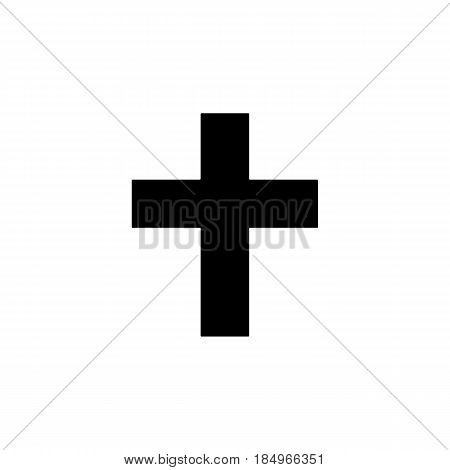 Religion cross solid icon, religion christianity, Religious sign, a filled pattern on a white background, eps 10.