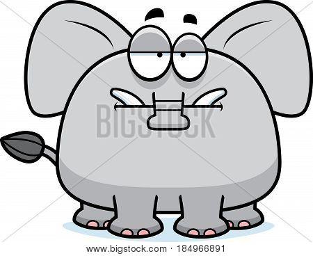 Bored Cartoon Elephant