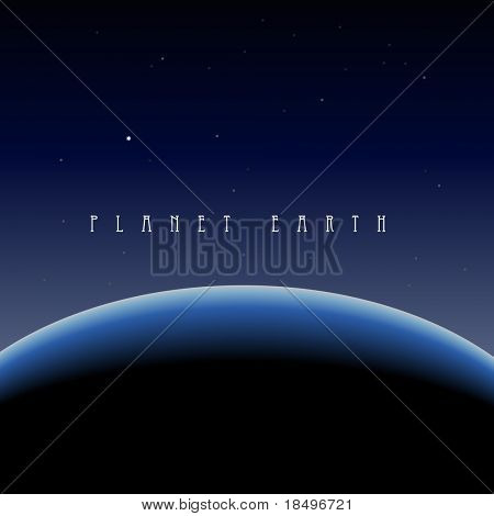 Vektor-Illustration der blaue Planetenerde