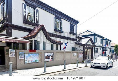 Kobe, Japan - April 2016: Ben's House, Built In 1902, The Oldest Western-style Building In Kitano Di