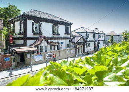 Kobe, Japan - April 2016: Ben's House, Built In 1902, The Oldest Western-style Building In Kitano Di