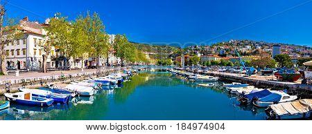 Rjecina River In Rijeka Panoramic View