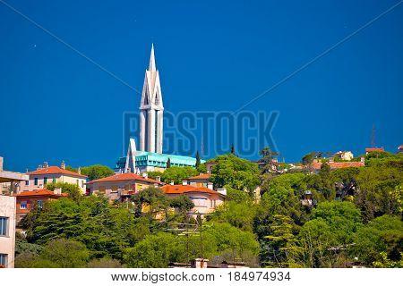 City Of Rijeka Hill Church View