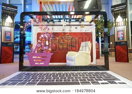 SINGAPORE - CIRCA AUGUST, 2016: Be A Changi Millionaire at Singapore Changi Airport. Changi Airport is one of the largest transportation hubs in Southeast Asia.