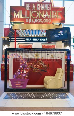 SINGAPORE - CIRCA SEPTEMBER, 2016: Be A Changi Millionaire inside Singapore Changi Airport. Changi Airport is one of the largest transportation hubs in Southeast Asia.