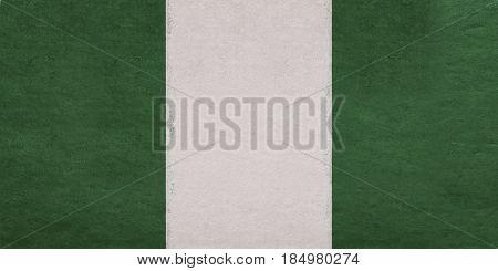 Flag Of Nigeria Grunge.