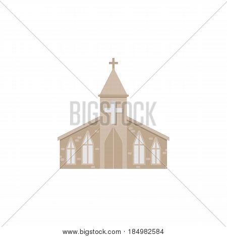 Church flat icon, religion building elements, Religious sign, a colorful solid pattern on a white background, eps 10.