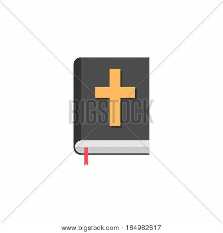 Holy bible book flat icon, religion elements, Religious sign, a colorful solid pattern on a white background, eps 10.