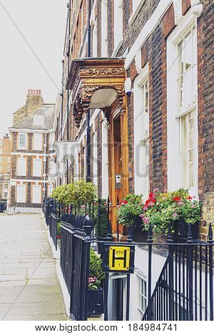 Colorful Flowers Adorning The Streets Of London