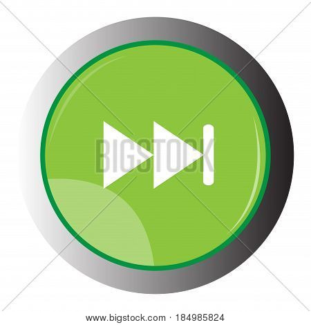 Isolated web button with a forward symbol, Vector illustration