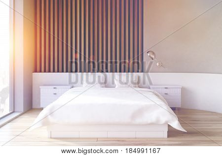 Wooden Bedroom Interior, Toned