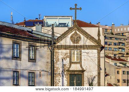 Small chapel in Foz do Douro parish in Porto Portugal
