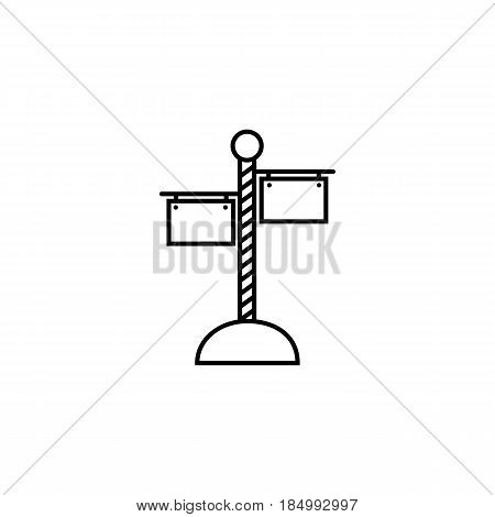 Signpost line icon, travel navigation, Road sign, a linear pattern on a white background, eps 10.