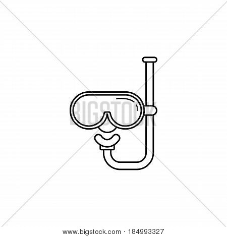 Diving mask line icon, tourism beach, diving travel, a linear pattern on a white background, eps 10.