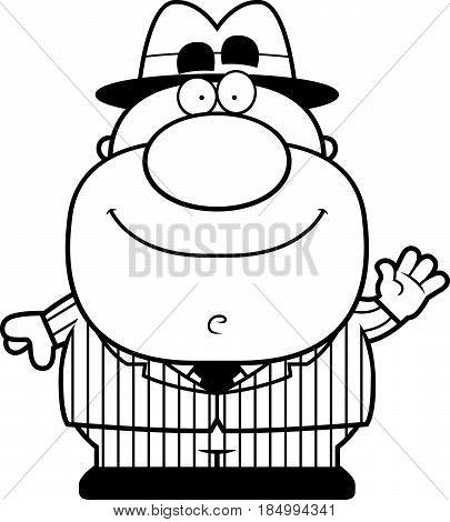 Waving Cartoon Mobster