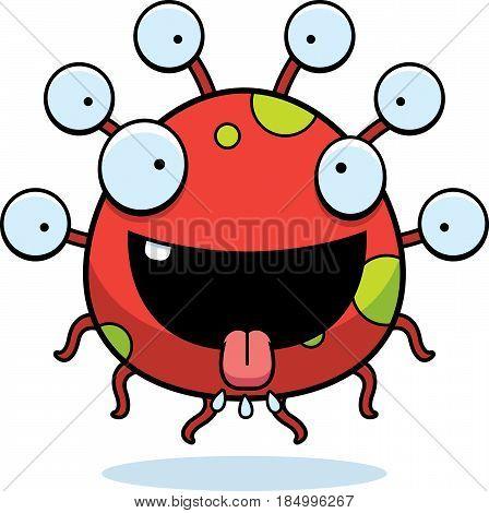 Hungry Cartoon Eyeball Monster