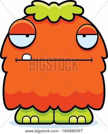 Bored Cartoon Fluffy Monster