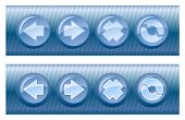 Set of browser buttons, on and off position. Vector in my portfolio poster
