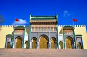Golden gates of Royal palace. Fes old town Kingdom of Morocco poster