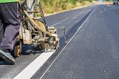 Thermoplastic road marking paint also called hot melt marking paint is a kind of powder paint poster